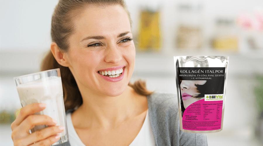 Kollagén Italpor hibiszkusz és cékla ízesítéssel