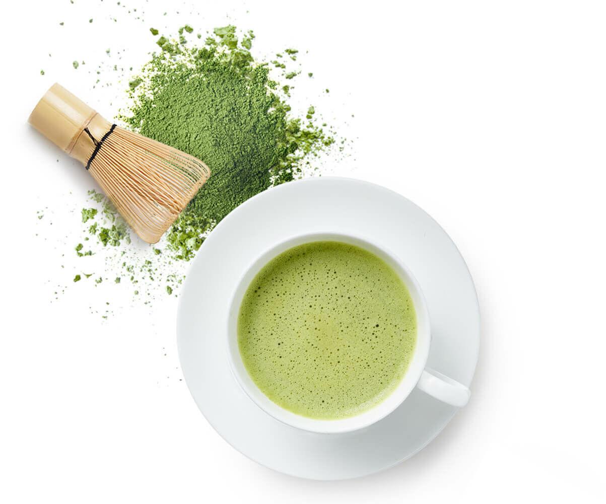 Kollagén Italpor matcha tea ízesítéssel